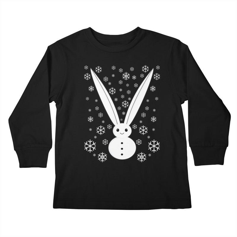 Snow bunny  Kids Longsleeve T-Shirt by 1001 bunnies
