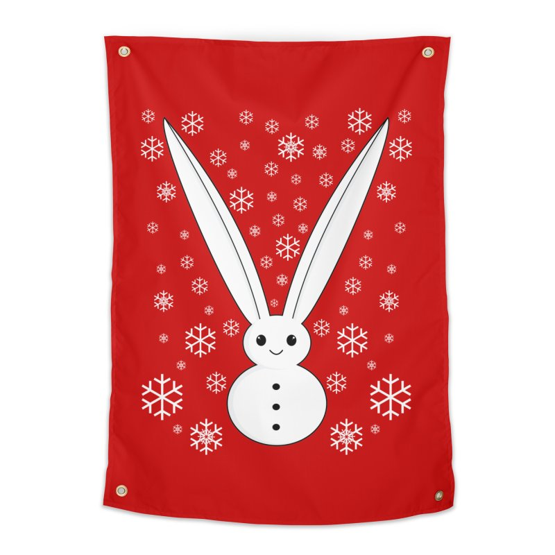 Snow bunny  Home Tapestry by 1001 bunnies