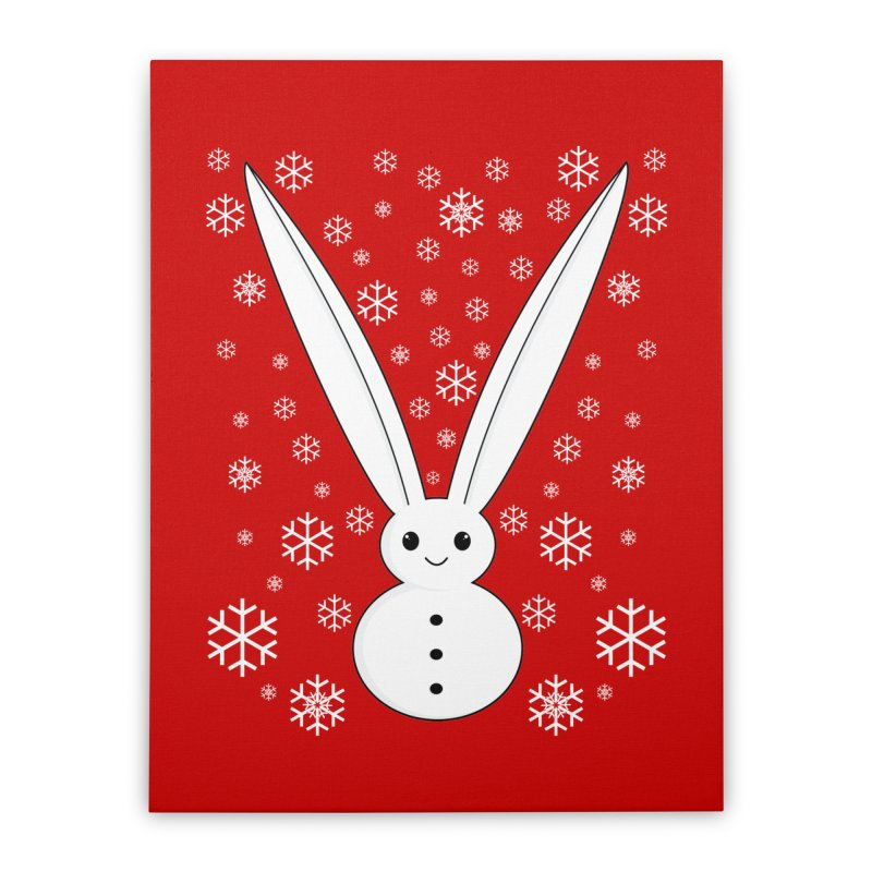 Snow bunny  Home Stretched Canvas by 1001 bunnies