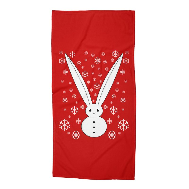 Snow bunny  Accessories Beach Towel by 1001 bunnies