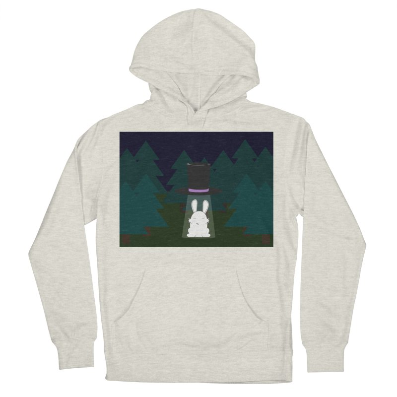 the abduction of Mr. Rabbitson Women's Pullover Hoody by 1001 bunnies