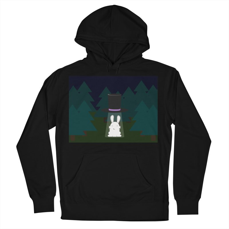 the abduction of Mr. Rabbitson Men's Pullover Hoody by 1001 bunnies