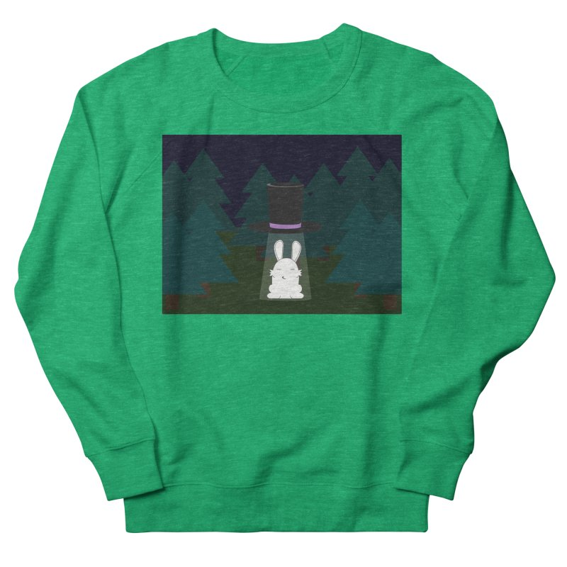 the abduction of Mr. Rabbitson Women's Sweatshirt by 1001 bunnies
