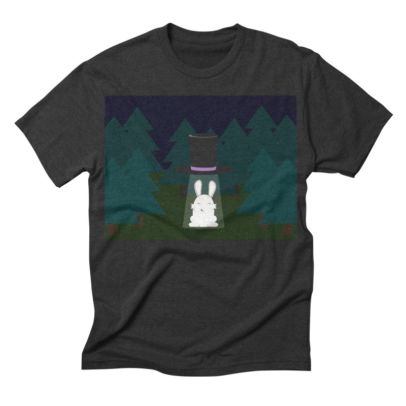 the abduction of Mr. Rabbitson Men's Triblend T-shirt by 1001 bunnies