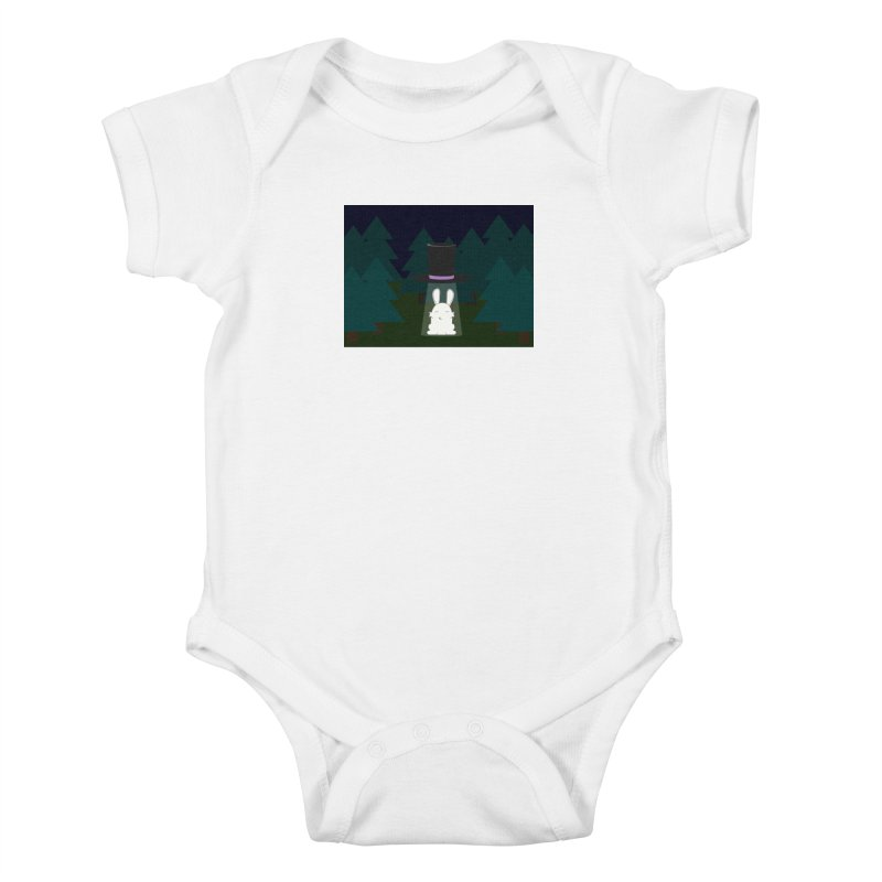 the abduction of Mr. Rabbitson Kids Baby Bodysuit by 1001 bunnies
