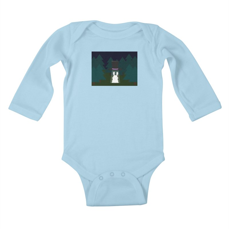 the abduction of Mr. Rabbitson Kids Baby Longsleeve Bodysuit by 1001 bunnies