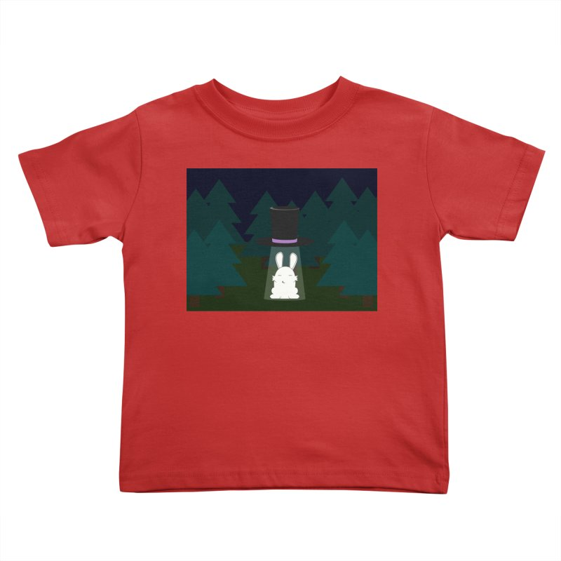 the abduction of Mr. Rabbitson Kids Toddler T-Shirt by 1001 bunnies