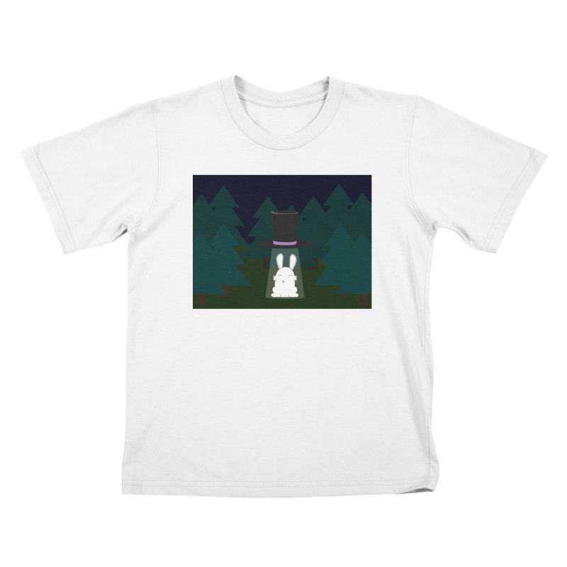 the abduction of Mr. Rabbitson Kids T-shirt by 1001 bunnies
