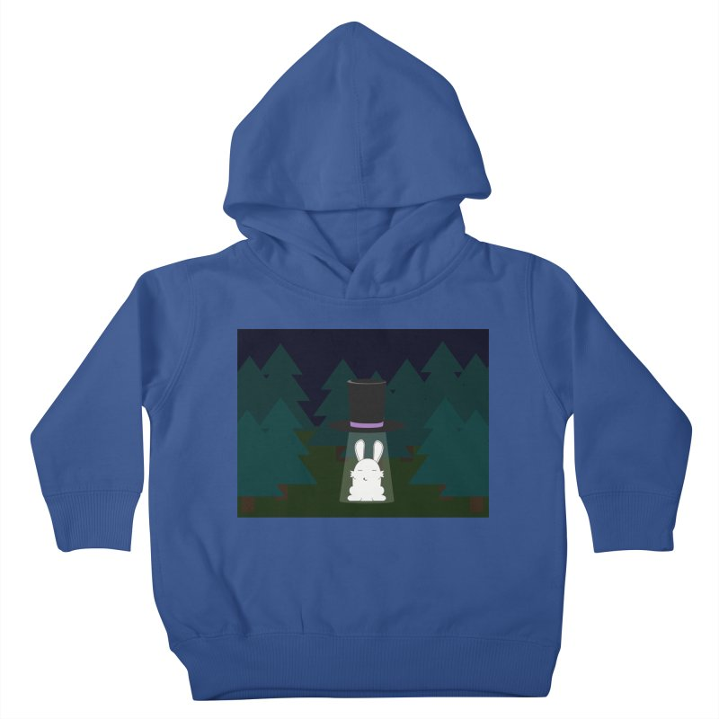 the abduction of Mr. Rabbitson Kids Toddler Pullover Hoody by 1001 bunnies