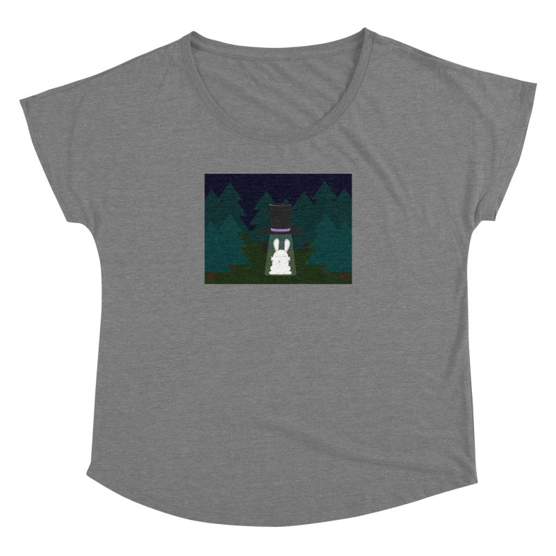 the abduction of Mr. Rabbitson Women's Dolman by 1001 bunnies