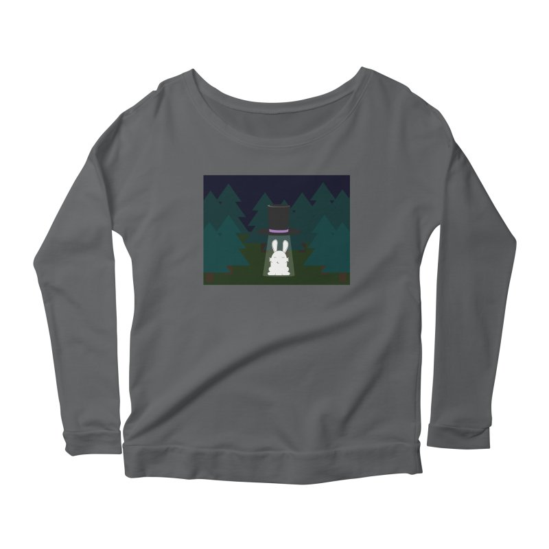 the abduction of Mr. Rabbitson Women's Longsleeve Scoopneck  by 1001 bunnies