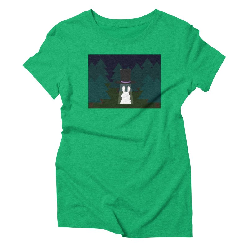 the abduction of Mr. Rabbitson Women's Triblend T-shirt by 1001 bunnies