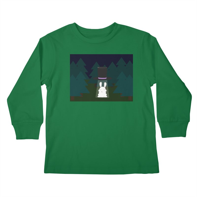 the abduction of Mr. Rabbitson Kids Longsleeve T-Shirt by 1001 bunnies
