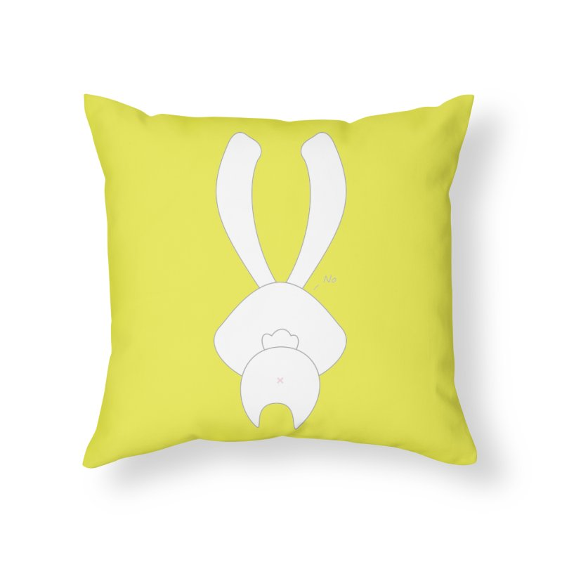 Refuse Home Throw Pillow by 1001 bunnies