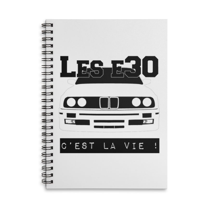 Les E30 c'est la vie Accessories Lined Spiral Notebook by 100% Pilote