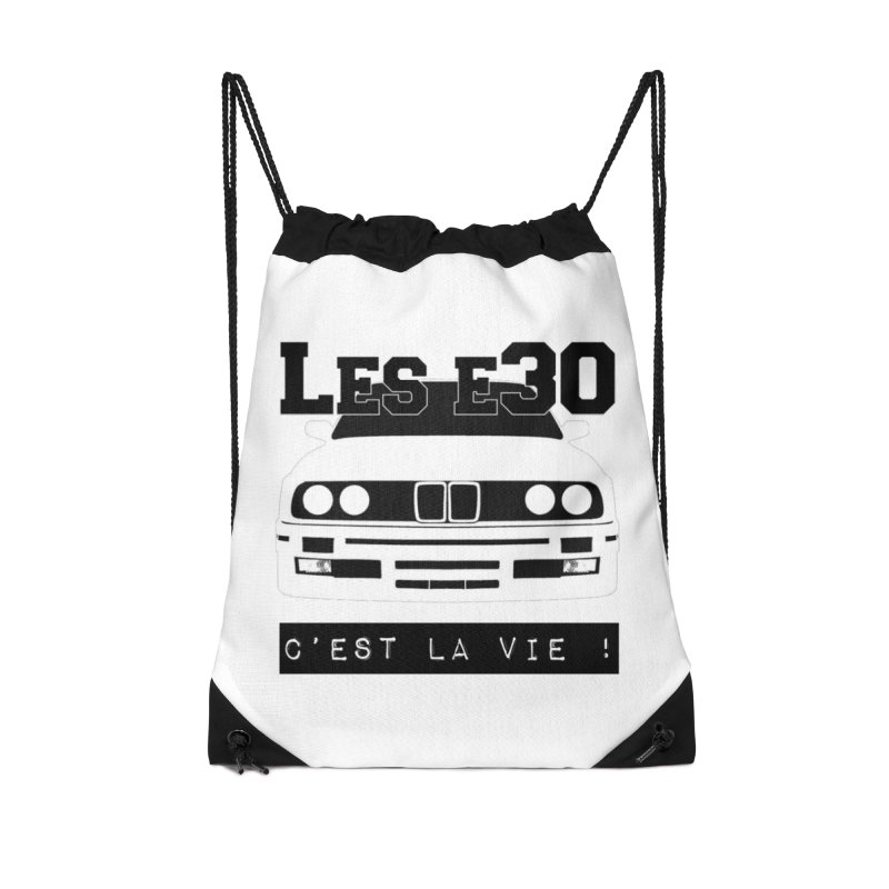 Les E30 c'est la vie Accessories Drawstring Bag Bag by 100% Pilote