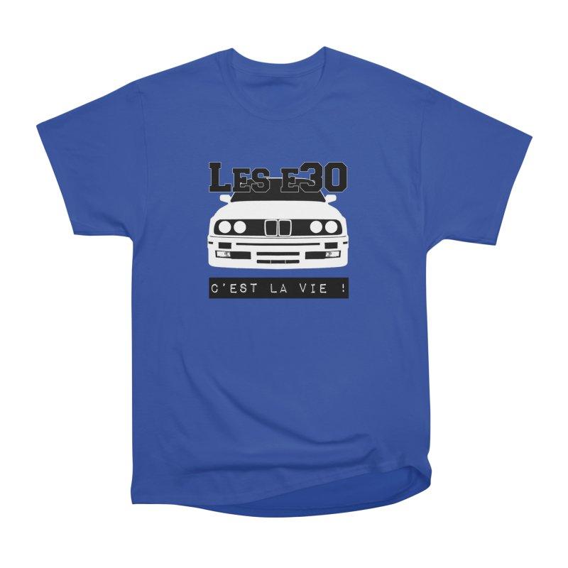 Les E30 c'est la vie Women's Heavyweight Unisex T-Shirt by 100% Pilote