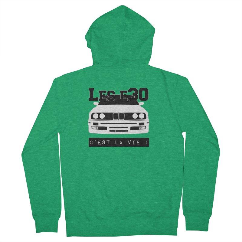 Les E30 c'est la vie Men's French Terry Zip-Up Hoody by 100% Pilote