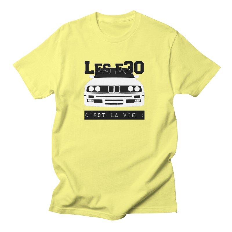 Les E30 c'est la vie Women's Regular Unisex T-Shirt by 100% Pilote