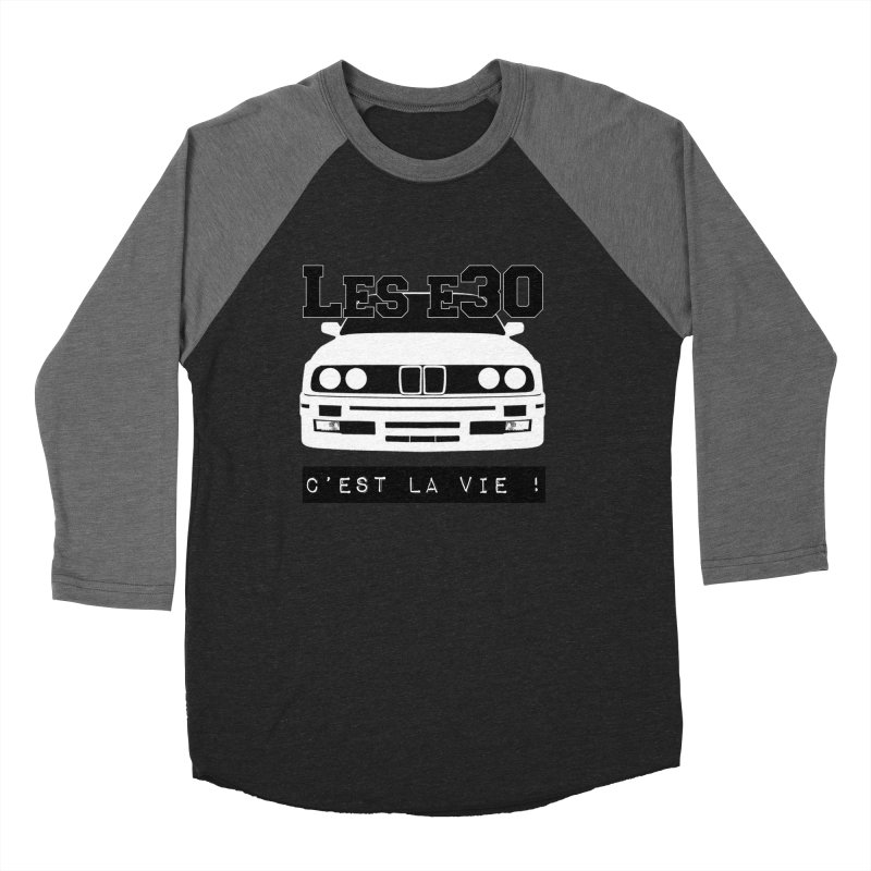 Les E30 c'est la vie Men's Baseball Triblend Longsleeve T-Shirt by 100% Pilote