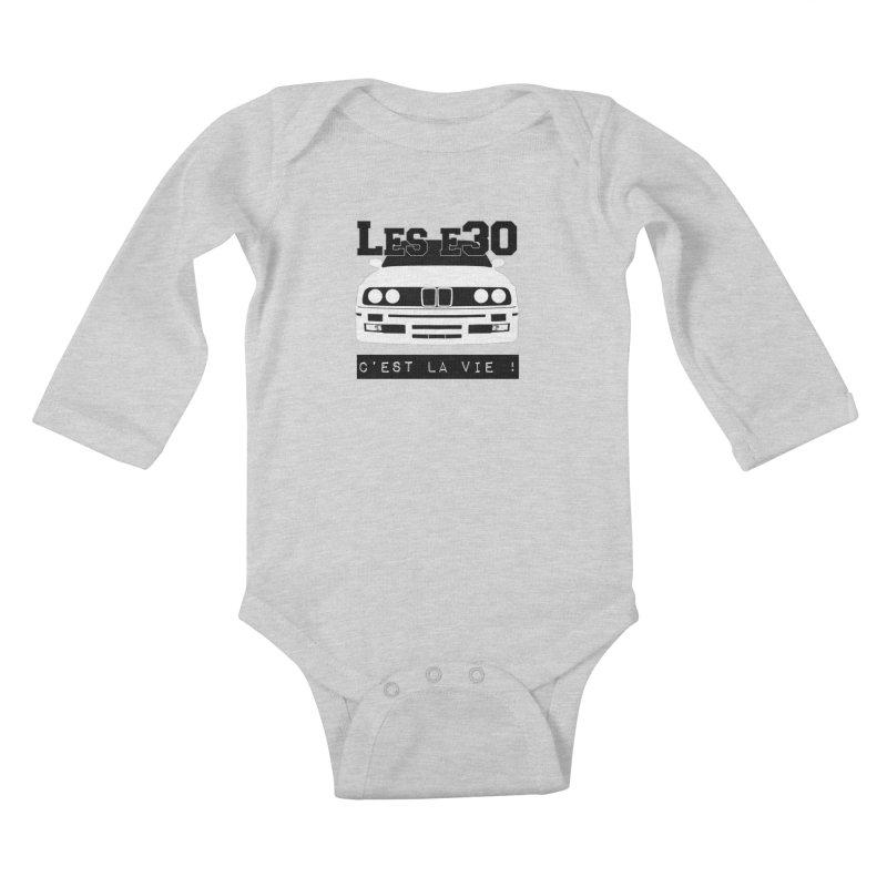 Les E30 c'est la vie Kids Baby Longsleeve Bodysuit by 100% Pilote