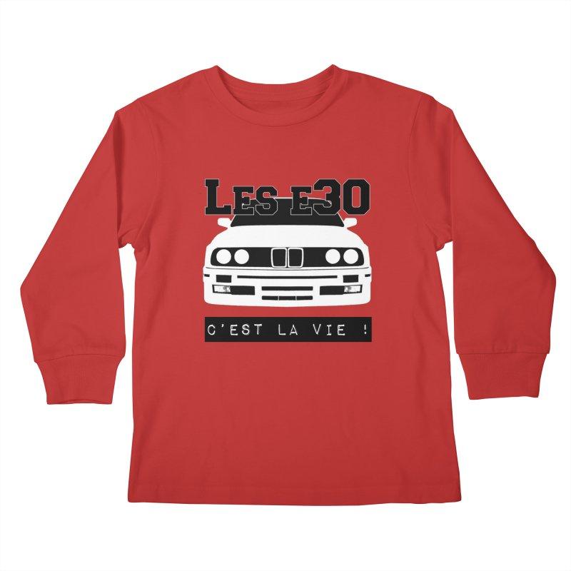 Les E30 c'est la vie Kids Longsleeve T-Shirt by 100% Pilote