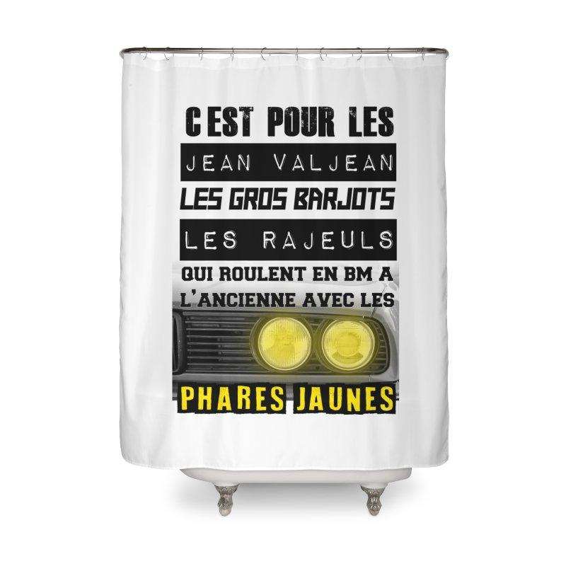 C'est pour les Jean Valjean Home Shower Curtain by 100% Pilote