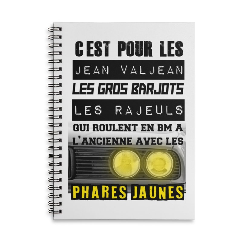 C'est pour les Jean Valjean Accessories Lined Spiral Notebook by 100% Pilote