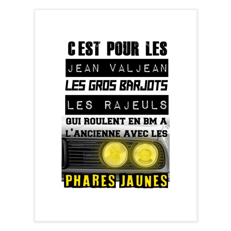 C'est pour les Jean Valjean Home Fine Art Print by 100% Pilote