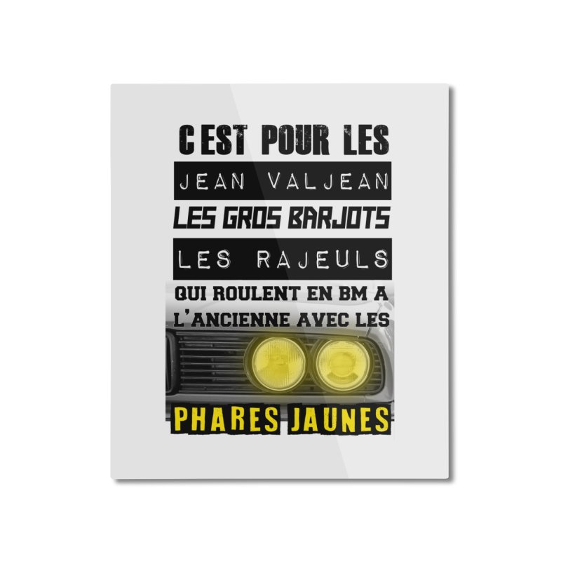 C'est pour les Jean Valjean Home Mounted Aluminum Print by 100% Pilote
