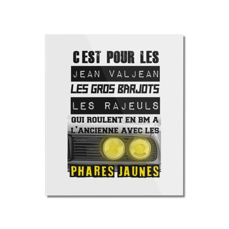 C'est pour les Jean Valjean Home Mounted Acrylic Print by 100% Pilote