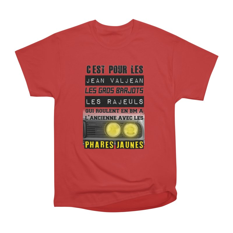 C'est pour les Jean Valjean Men's Heavyweight T-Shirt by 100% Pilote