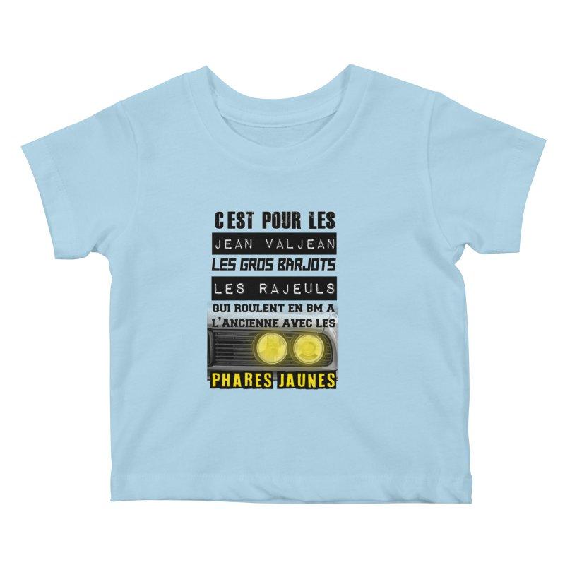 C'est pour les Jean Valjean Kids Baby T-Shirt by 100% Pilote