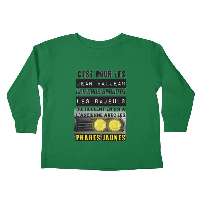 C'est pour les Jean Valjean Kids Toddler Longsleeve T-Shirt by 100% Pilote