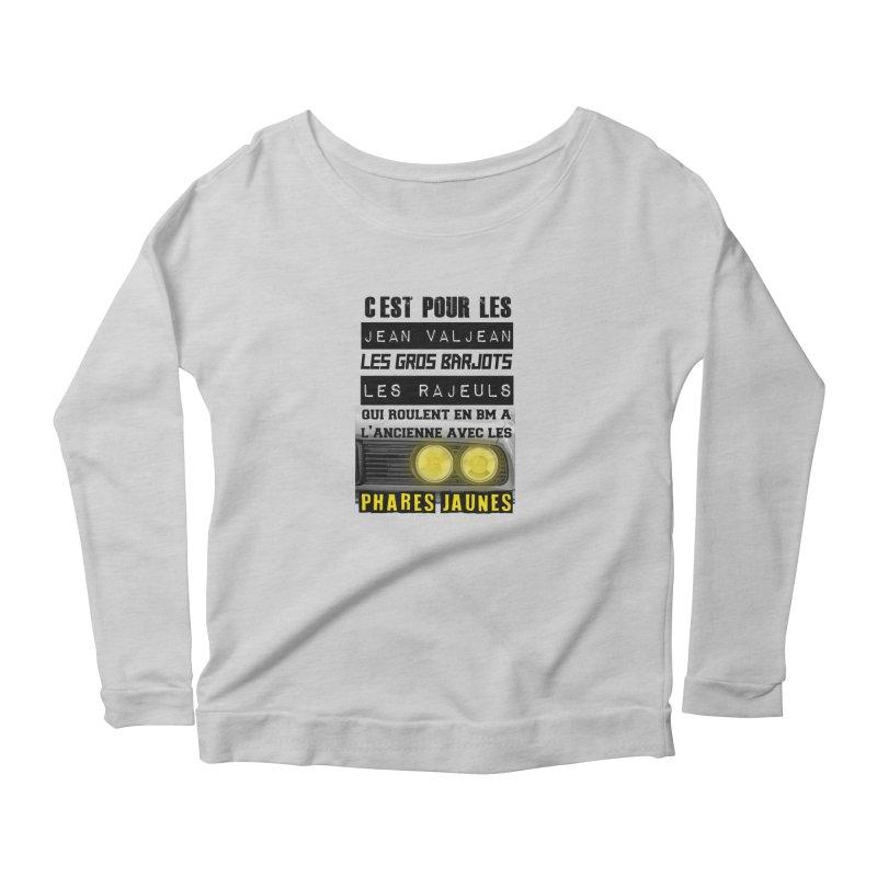 C'est pour les Jean Valjean Women's Scoop Neck Longsleeve T-Shirt by 100% Pilote