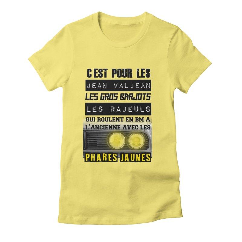 C'est pour les Jean Valjean Women's Fitted T-Shirt by 100% Pilote
