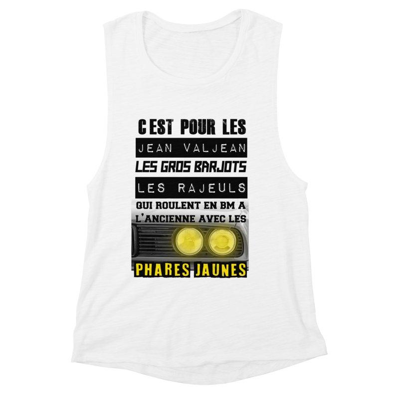 C'est pour les Jean Valjean Women's Muscle Tank by 100% Pilote