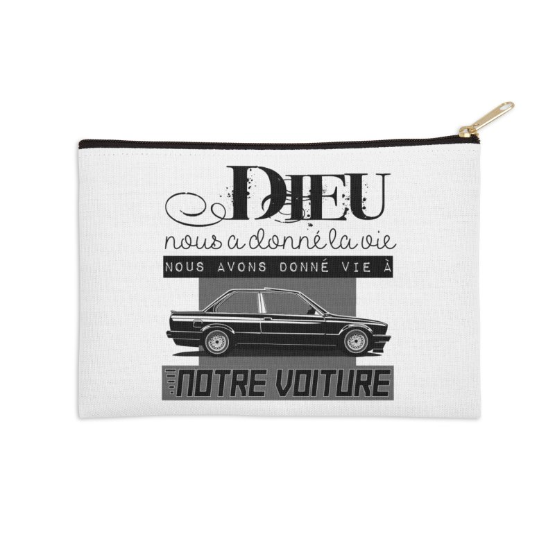 Dieu nous a donné la vie Accessories Zip Pouch by 100% Pilote