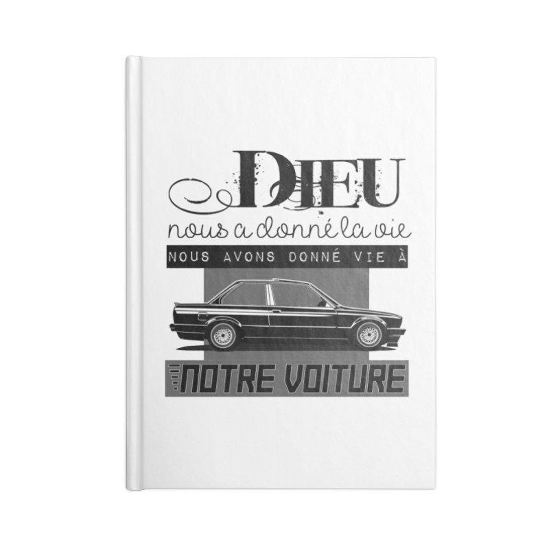 Dieu nous a donné la vie Accessories Lined Journal Notebook by 100% Pilote