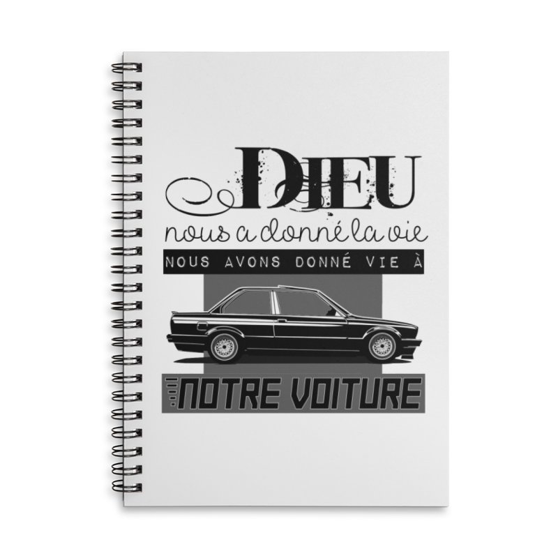 Dieu nous a donné la vie Accessories Lined Spiral Notebook by 100% Pilote
