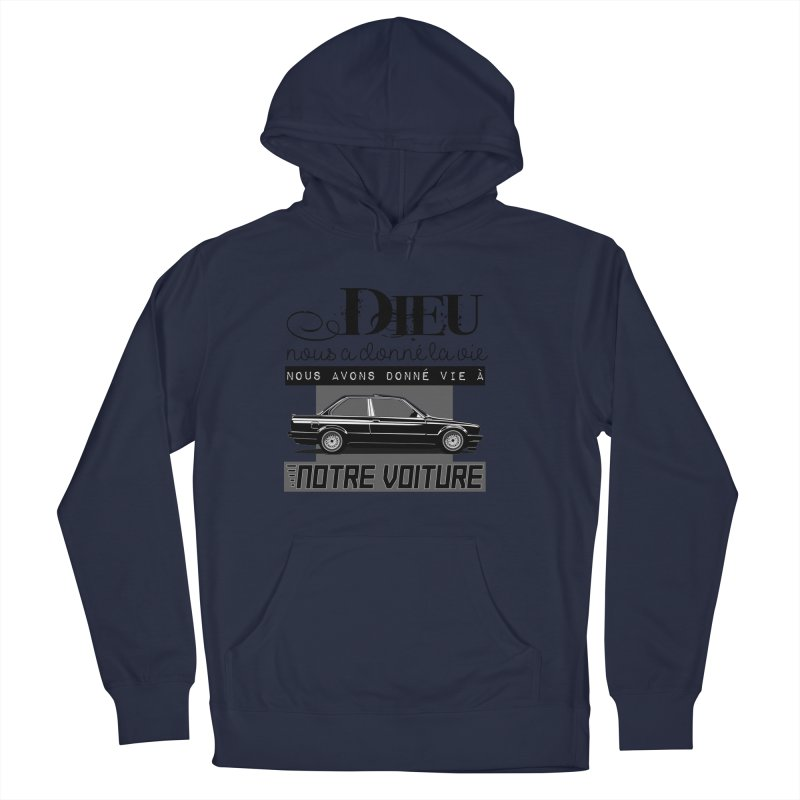 Dieu nous a donné la vie Men's French Terry Pullover Hoody by 100% Pilote