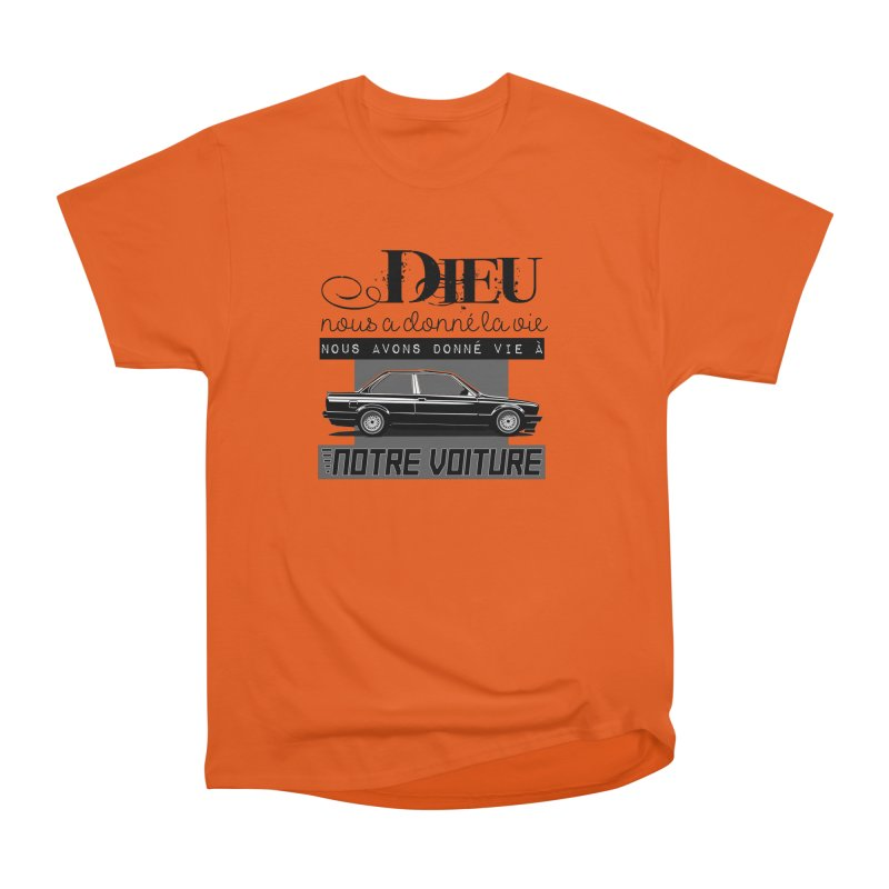 Dieu nous a donné la vie Men's Heavyweight T-Shirt by 100% Pilote