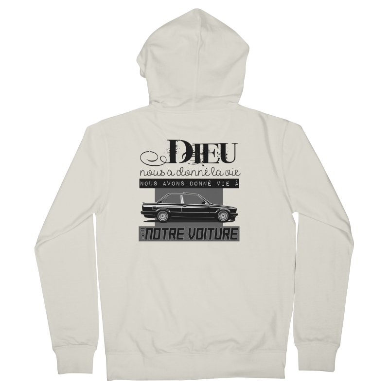 Dieu nous a donné la vie Men's French Terry Zip-Up Hoody by 100% Pilote