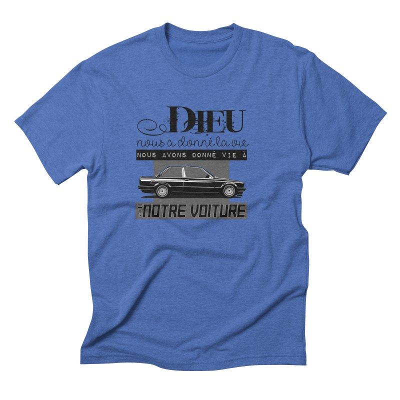Dieu nous a donné la vie Men's Triblend T-Shirt by 100% Pilote