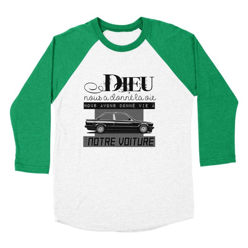 Dieu nous a donné la vie Men's Baseball Triblend Longsleeve T-Shirt by 100% Pilote