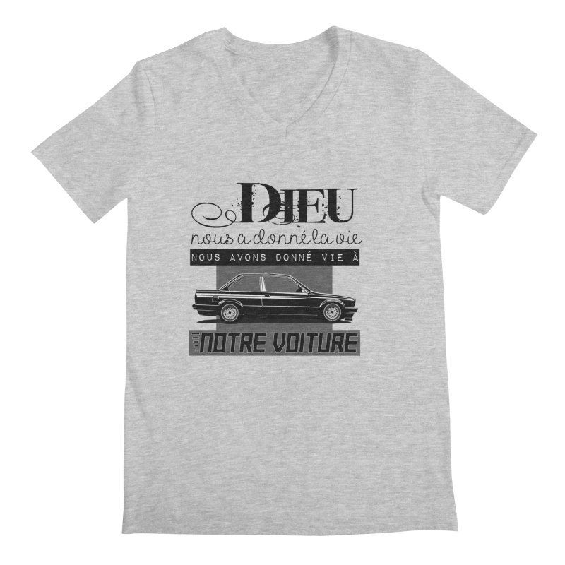Dieu nous a donné la vie Men's Regular V-Neck by 100% Pilote