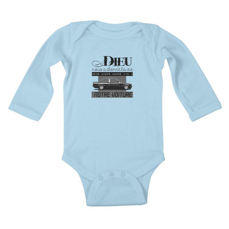 Dieu nous a donné la vie Kids Baby Longsleeve Bodysuit by 100% Pilote