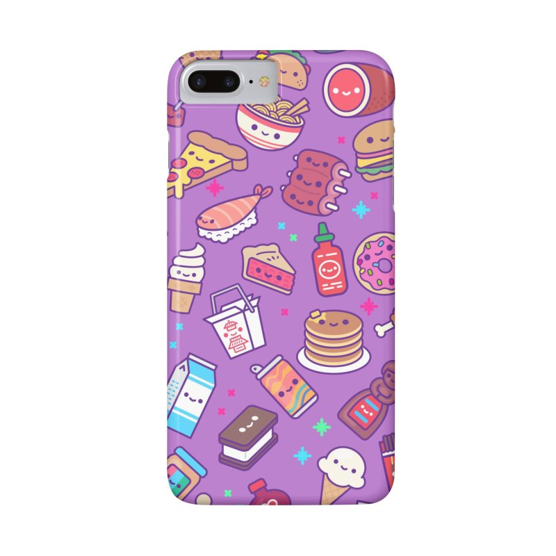 Kawaii Food Party in iPhone 7 Plus Phone Case Slim by 100% Soft