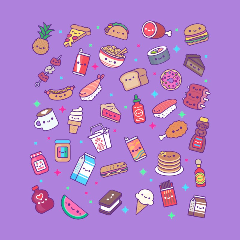 Kawaii Food Party Accessories Phone Case by 100% Soft