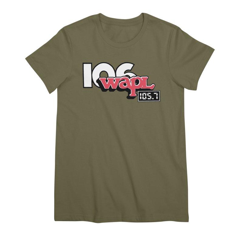 WAPL Digital Transition Logo Women's Premium T-Shirt by 105.7 WAPL Web Store
